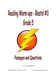 Reading Warm-ups - Blasts! #3 - Grade 5 - Passages and Questions