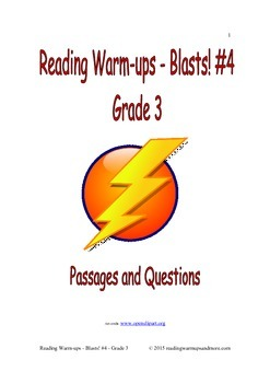 Reading Warm-ups - Blasts! #4 - Grade 3 - Passages and Questions