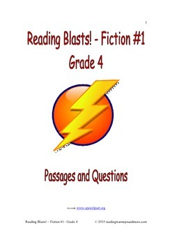 Reading Blasts! Fiction #1 - Grade 4 - Passages and Questions
