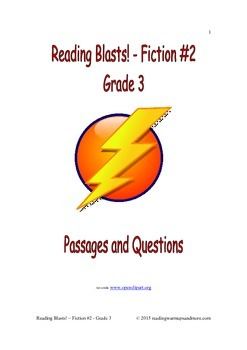 Reading Blasts! Fiction #2 - Grade 3 - Passages and Questions