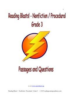 Reading Blasts! Nonfiction / Procedural - Grade 3 - Passages and Questions