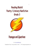 Reading Blasts! Poetry / Literary Nonfiction - Grade 3 - Passages and Questions