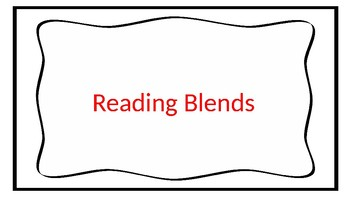 Reading Blends Power Point