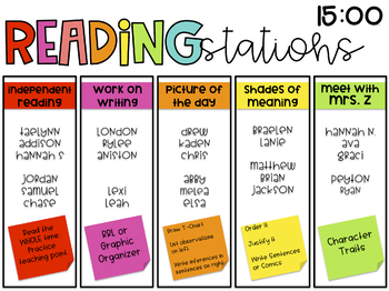 Reading Block Organizer with Timers {Editable}