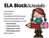 Reading Block Schedule & Rotations