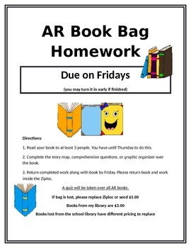 Reading Book Bag Homework