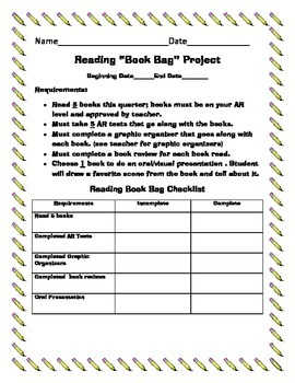 "Reading ""Book Bag"" Project"