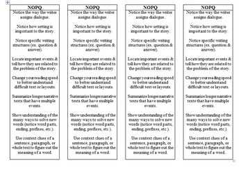 Guided Reading Bookmark NOPQ Band