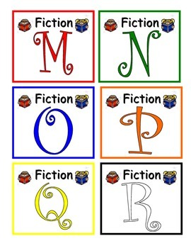 Reading Book Bin Labels Levels M-Z