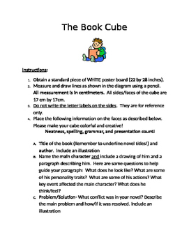Reading Book Cube Book Report