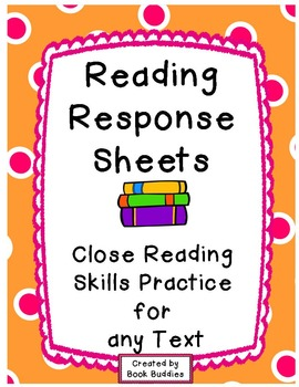 Reading Response Graphic Organizers for Any Text