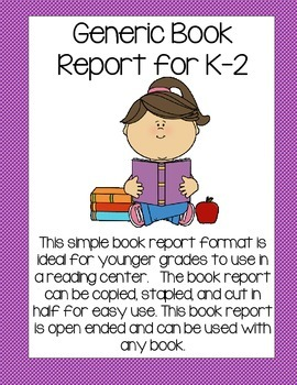 FREE! Reading Book Report (Reading Centers)