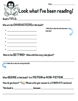 Reading Book Reports - for School, Home, and Vacations