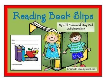 Reading Book Slips