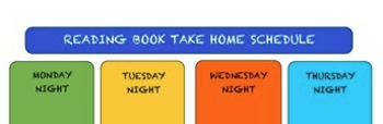Reading Book Take Home Schedule