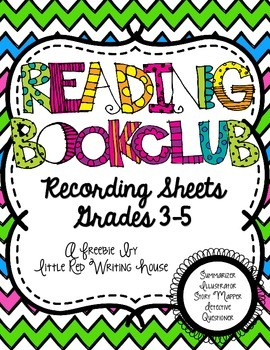 Reading Bookclub Sheets