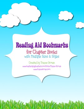 Free Reading Bookmark Aid for Chapter & Textbooks