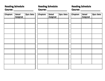 """Reading Bookmark with schedule and """"Reading with a Pen"""" palette"""