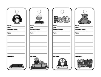 FREE Reading Bookmarks - Great for Assigning Tasks!