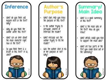 Reading Bookmarks (Higher Level Questioning)