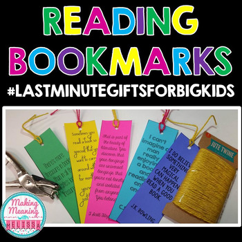 Reading Bookmarks #LastMinuteGiftsForBigKids