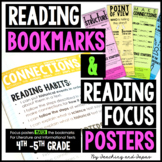 Reading Bookmarks & Reading Focus Posters {4th-5th Grade}
