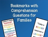 Reading Bookmarks with Comprehension Questions for Parents Families