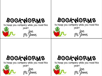 Reading Bookworms Tag- Editable