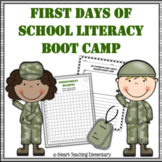 First Days of School Reading Boot Camp