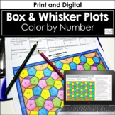 Reading Box and Whisker Plots Color by Number