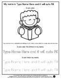 Reading Boy - Name Tracing & Coloring Editable Sheet - #60