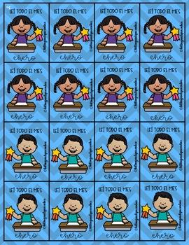 Reading Brag Tags/ Etiquetas de Logros para Lectura