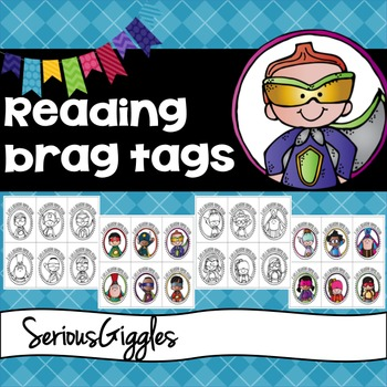 Reading Brag Tags - Superhero theme