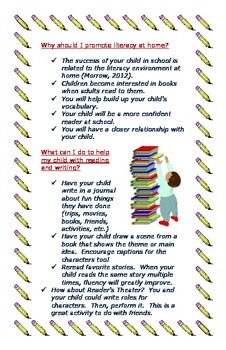 Reading Brochure/Guide for 1st and 2nd Grade Parents