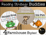 Reading Buddies -- Animal Strategy Banner Posters Farmhouse Classroom Decor
