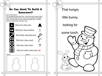 Reading Buddies Christmas Activity Booklet