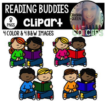 Reading Buddies Clipart FREEBIE
