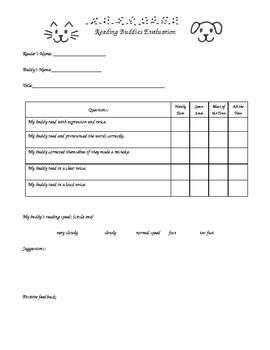 Reading Buddies Evaluation