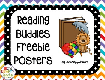 Reading Buddies Posters, Cards and Bookmarks Back to School
