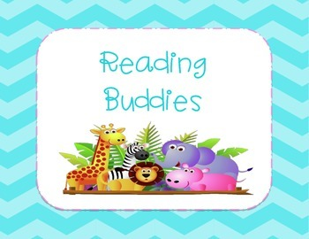 Reading Buddies {Literacy Center Sign-Chevron}