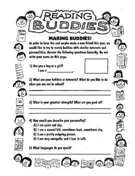 Reading Buddies Plan for a Year