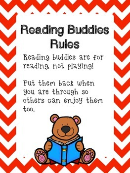 Reading Buddies Poster and Rules