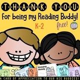 Reading Buddies: Reading Buddy Card