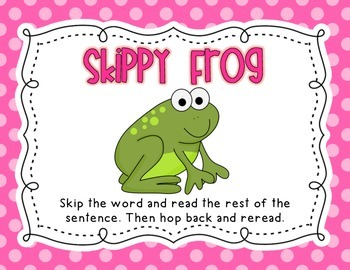 Reading Buddies Strategies Posters