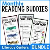 Reading Buddies Yearlong Bundle   Buddy Reading Bookmarks