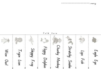 Reading Buddies {decoding Strategies} foldable activity.  Free Sample