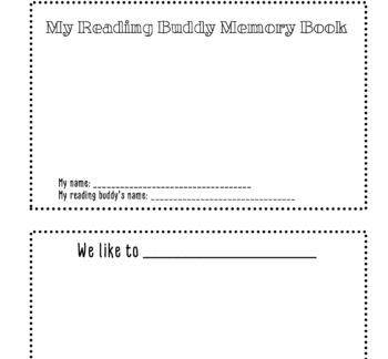 Reading Buddy Memory Book