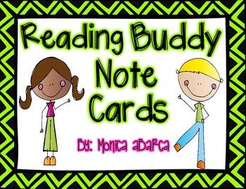 Reading Buddy Notecards