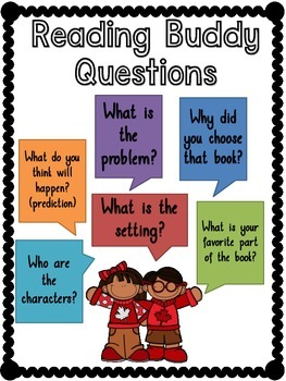 Reading Buddy Questions Anchor Chart