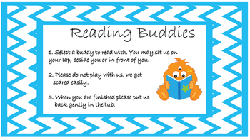 Reading Buddy Sign